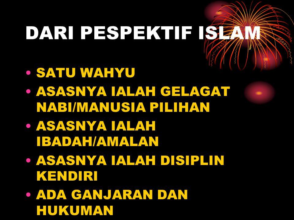 DARI PESPEKTIF ISLAM SATU WAHYU