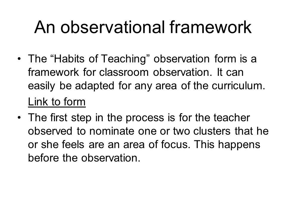 An observational framework
