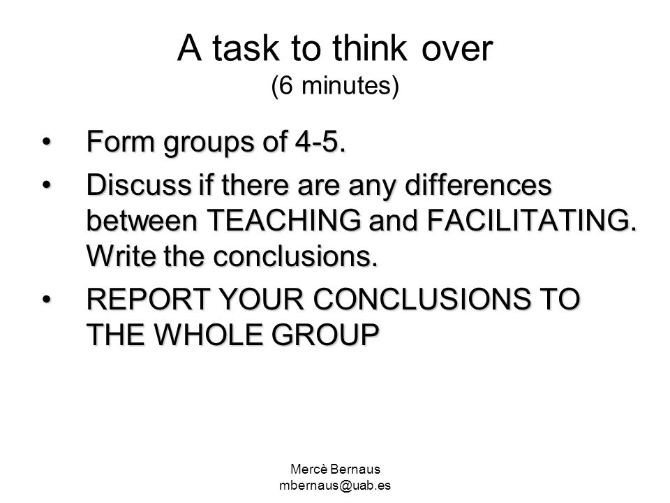A task to think over (6 minutes)