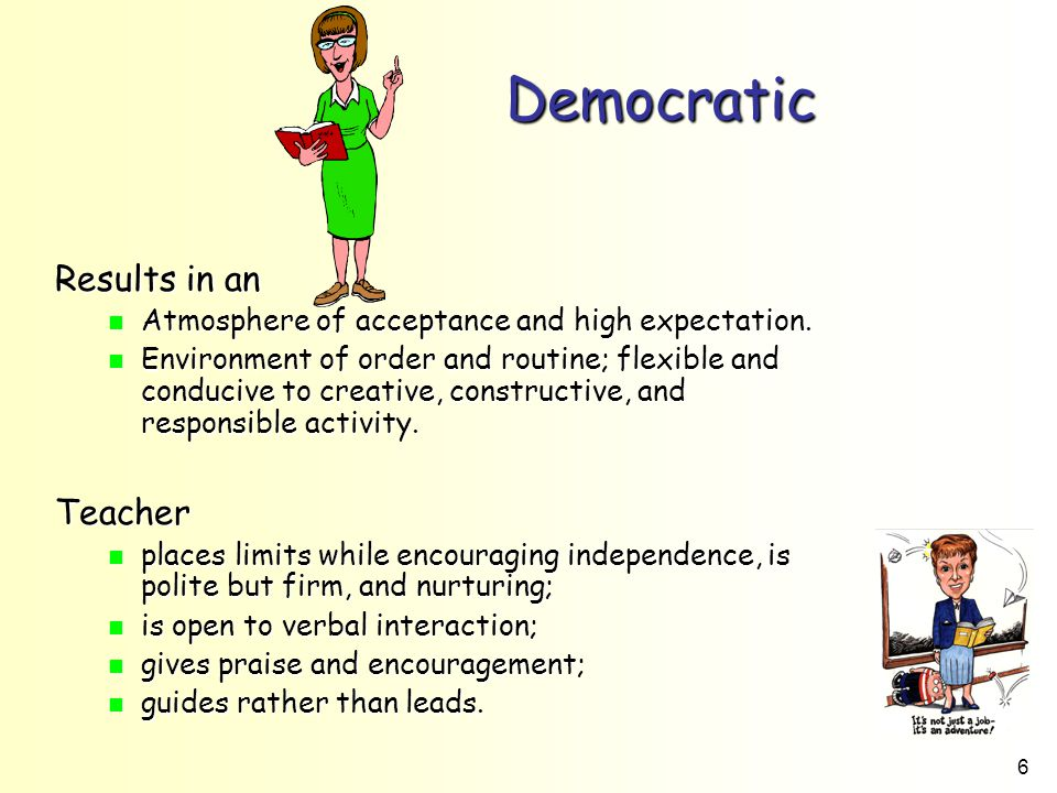 Democratic Results in an Teacher