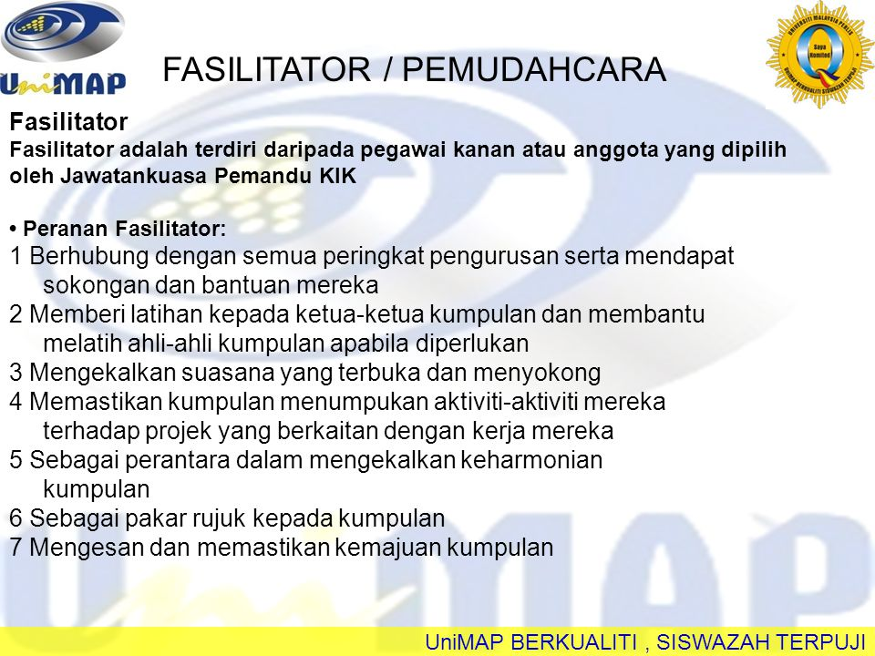 FASILITATOR / PEMUDAHCARA