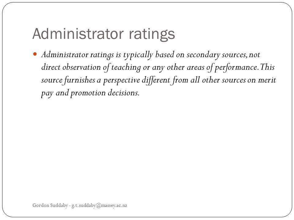 Administrator ratings