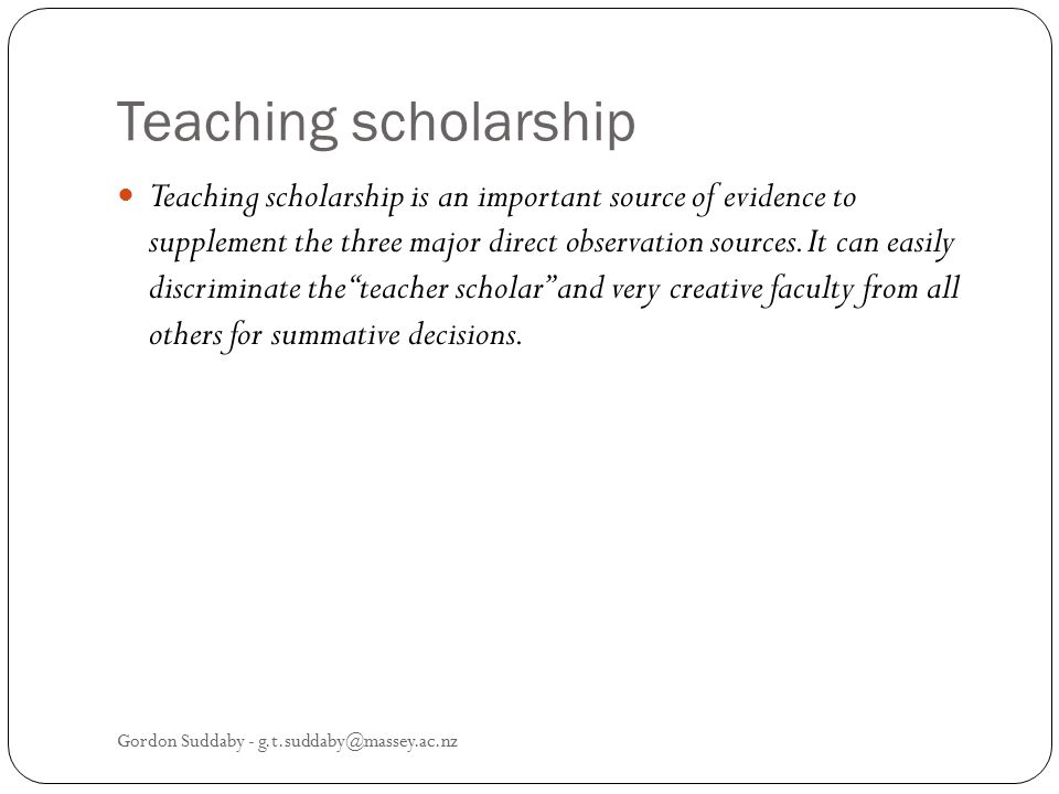 Teaching scholarship