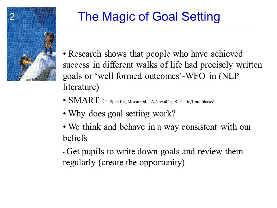 The Magic of Goal Setting