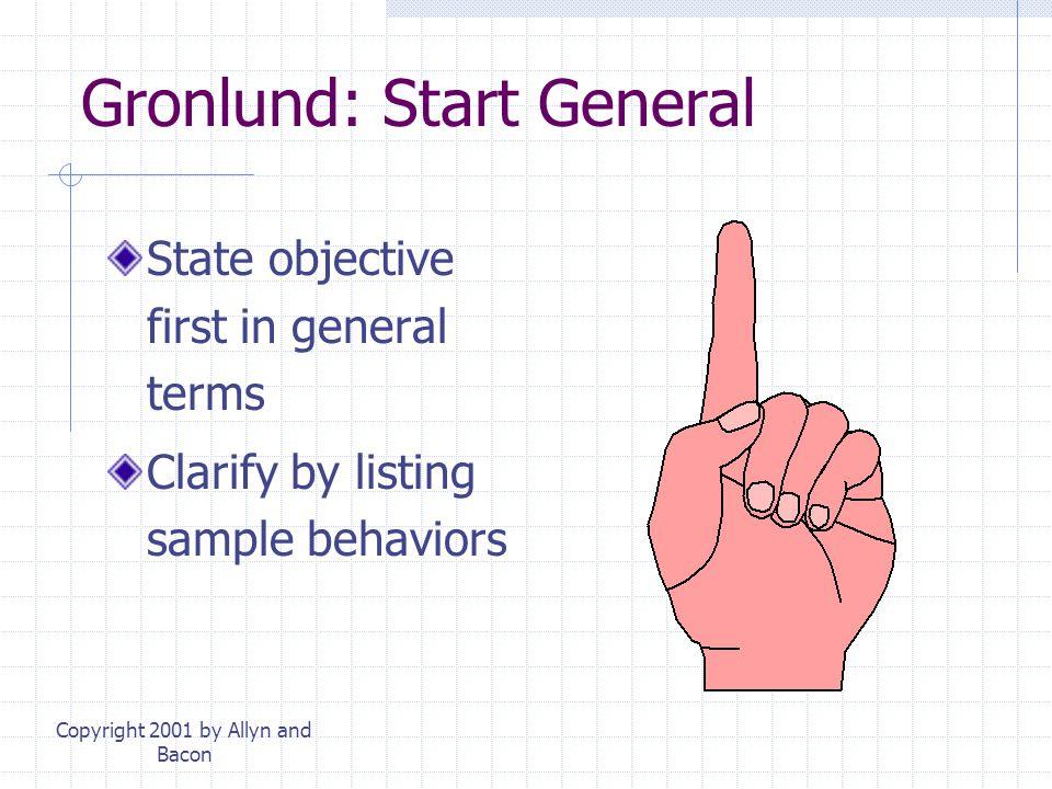 Gronlund: Start General