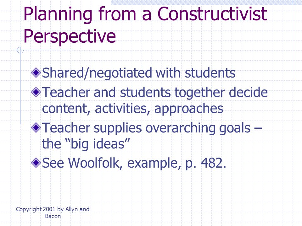 Planning from a Constructivist Perspective