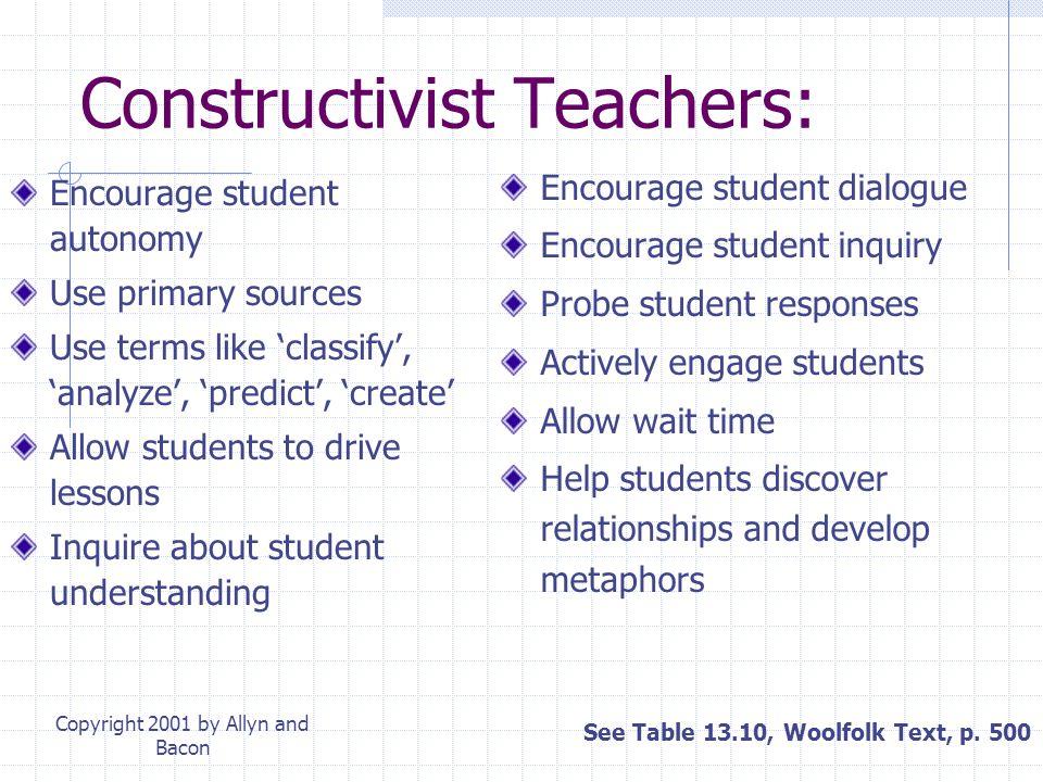 Constructivist Teachers: