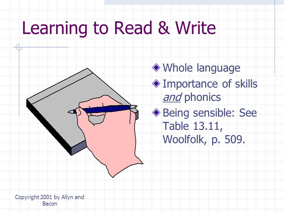 Learning to Read & Write