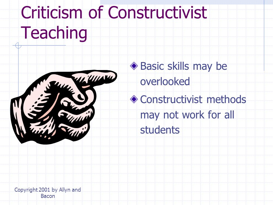 Criticism of Constructivist Teaching