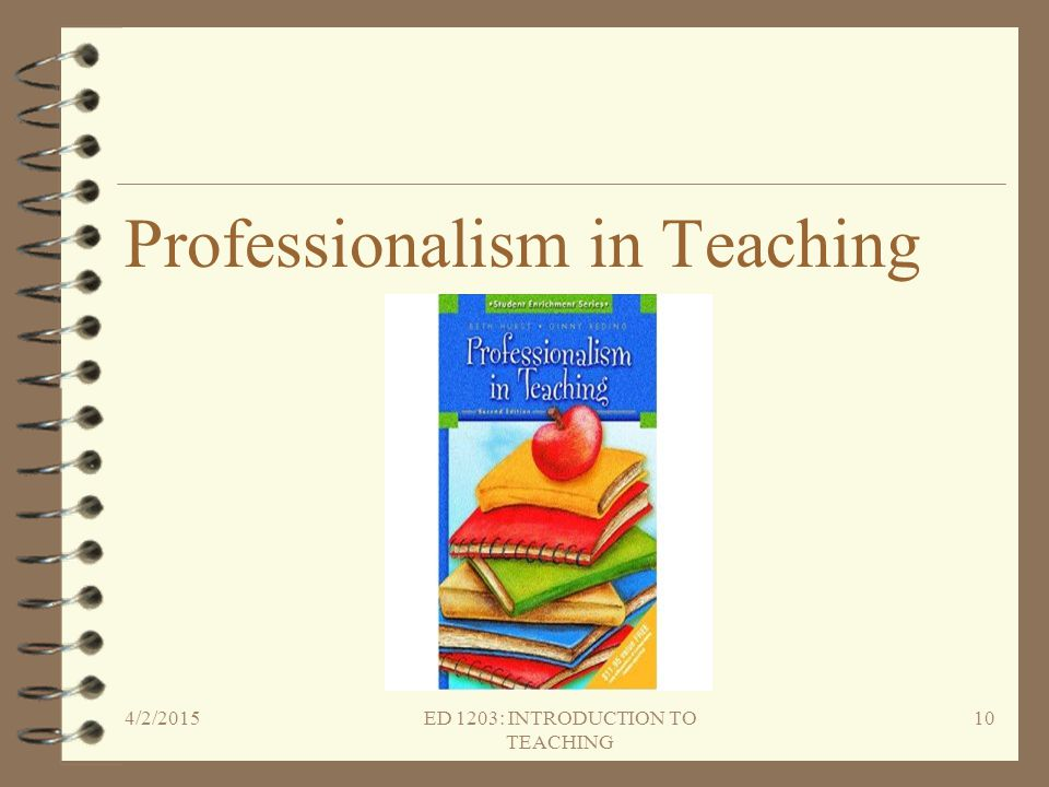 Professionalism in Teaching