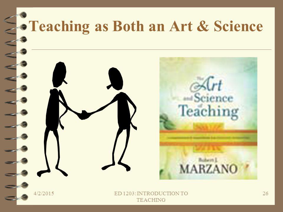 Teaching as Both an Art & Science