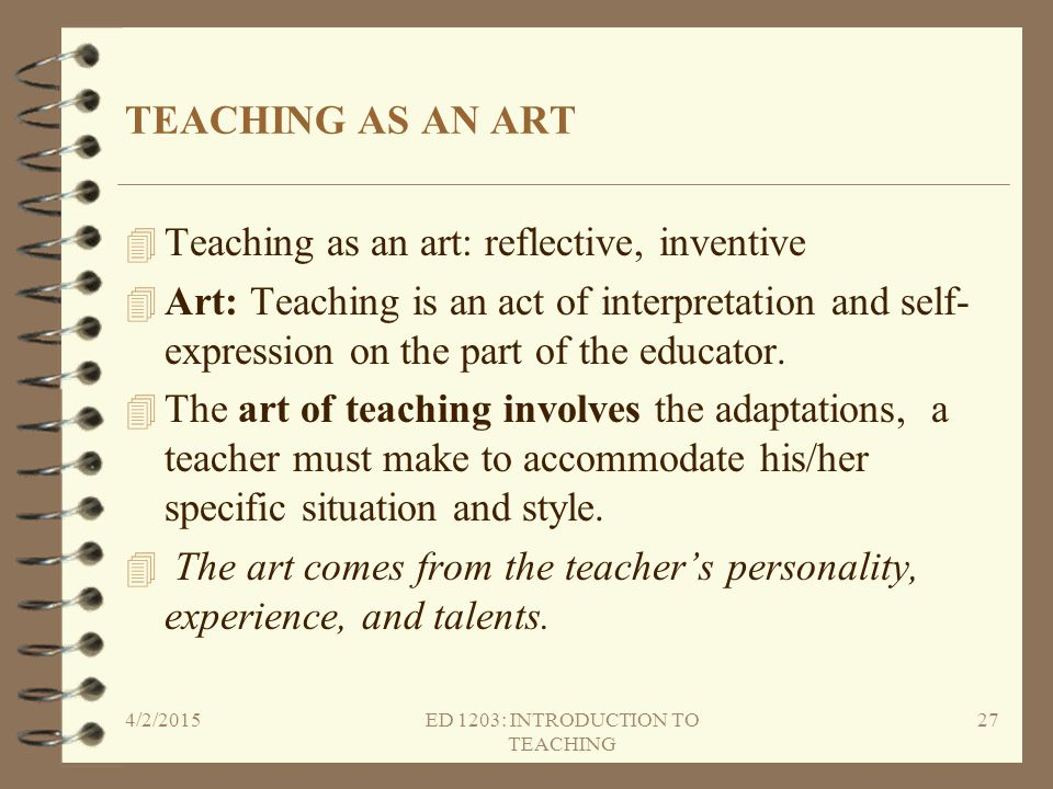 ED 1203: INTRODUCTION TO TEACHING
