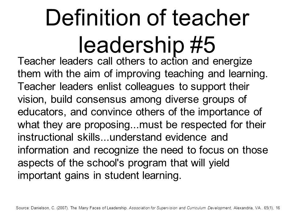 Definition of teacher leadership #5