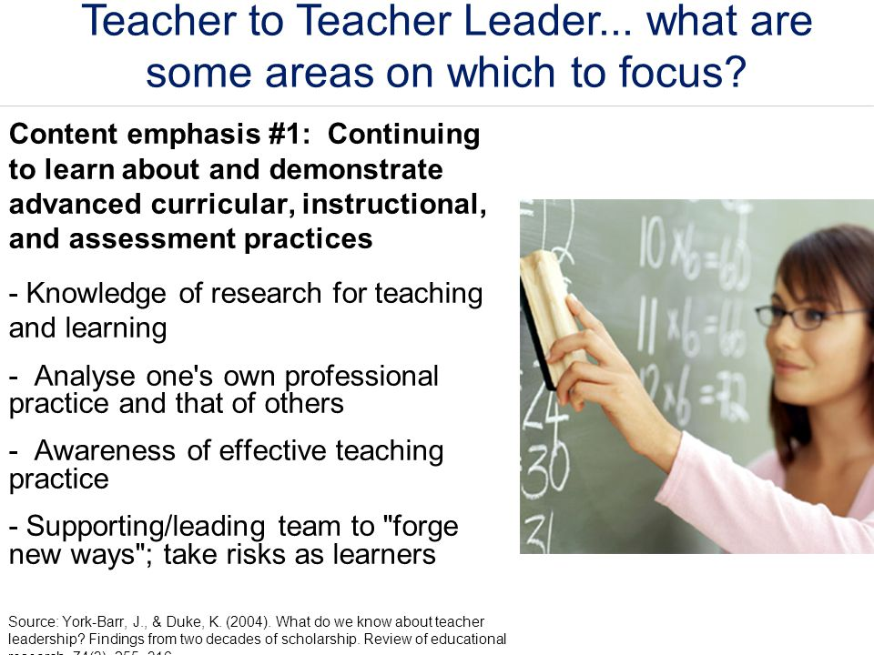 Teacher to Teacher Leader... what are some areas on which to focus