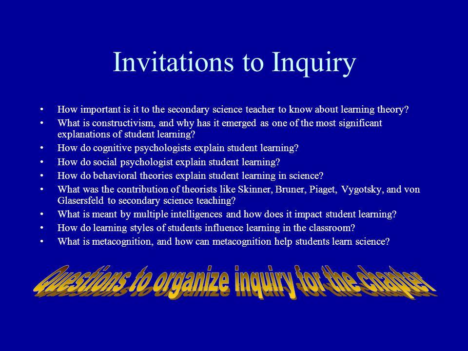 Invitations to Inquiry