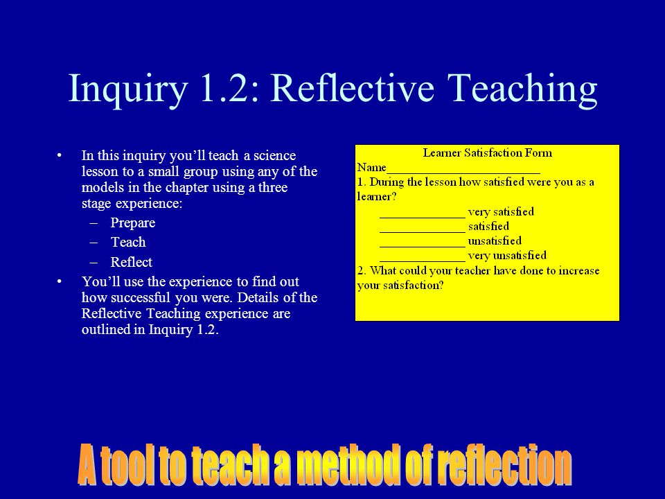 Inquiry 1.2: Reflective Teaching