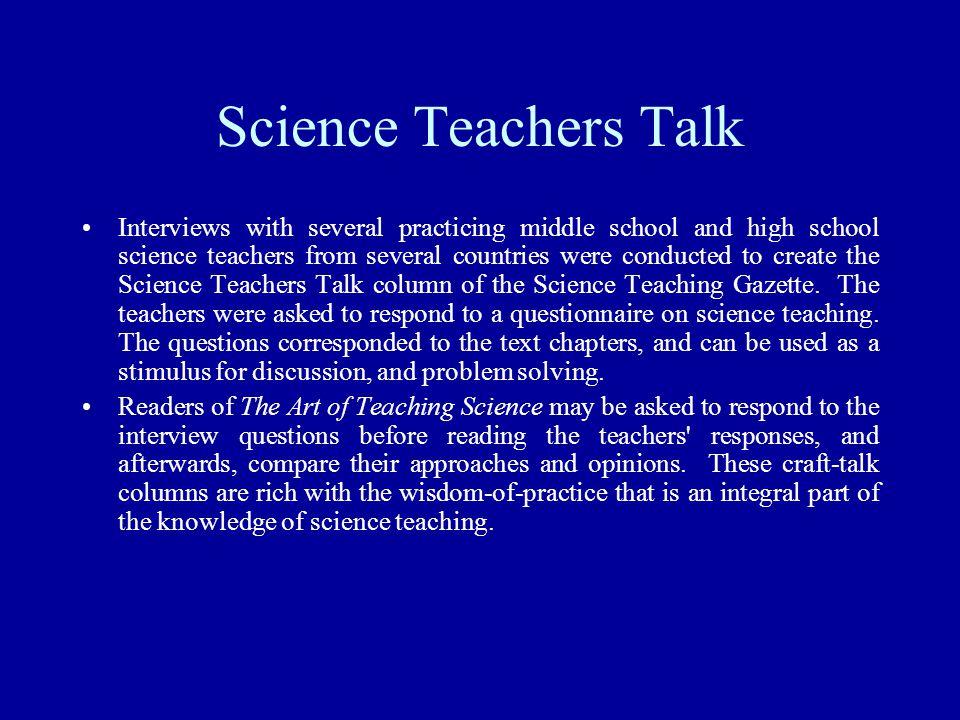 Science Teachers Talk