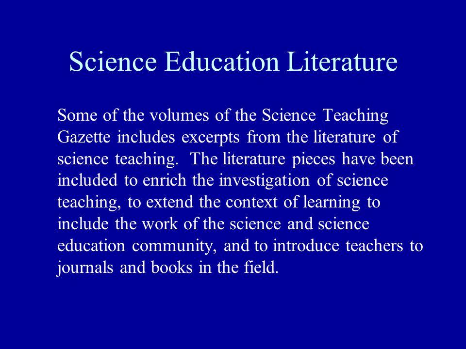 Science Education Literature