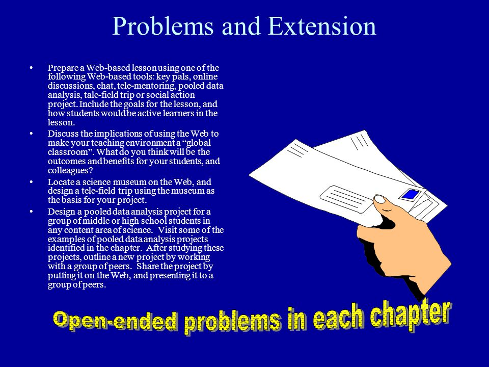 Problems and Extension