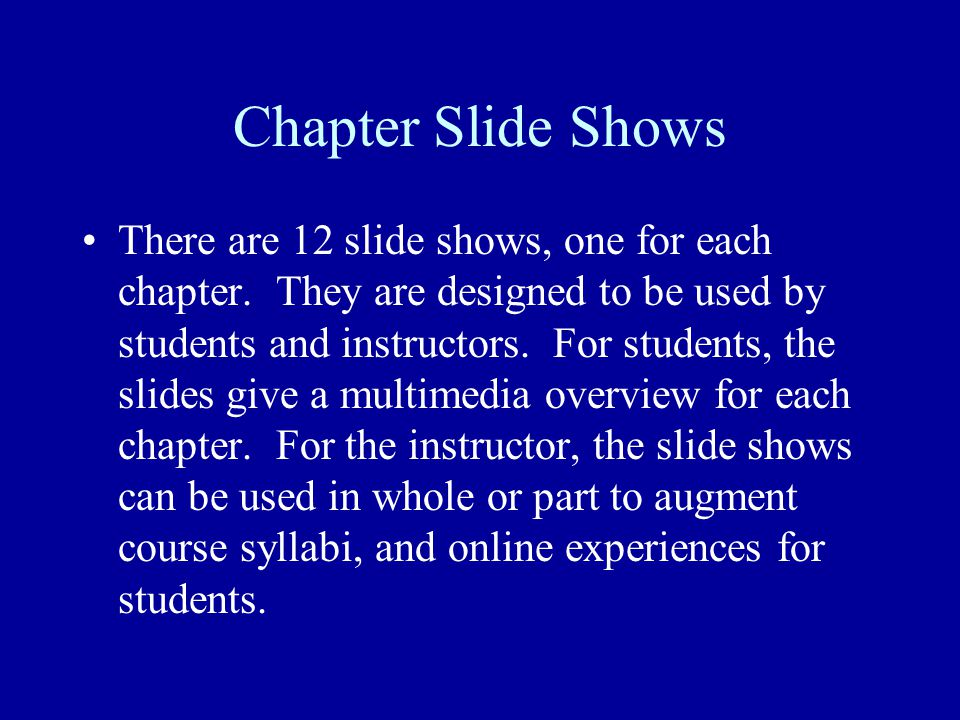 Chapter Slide Shows