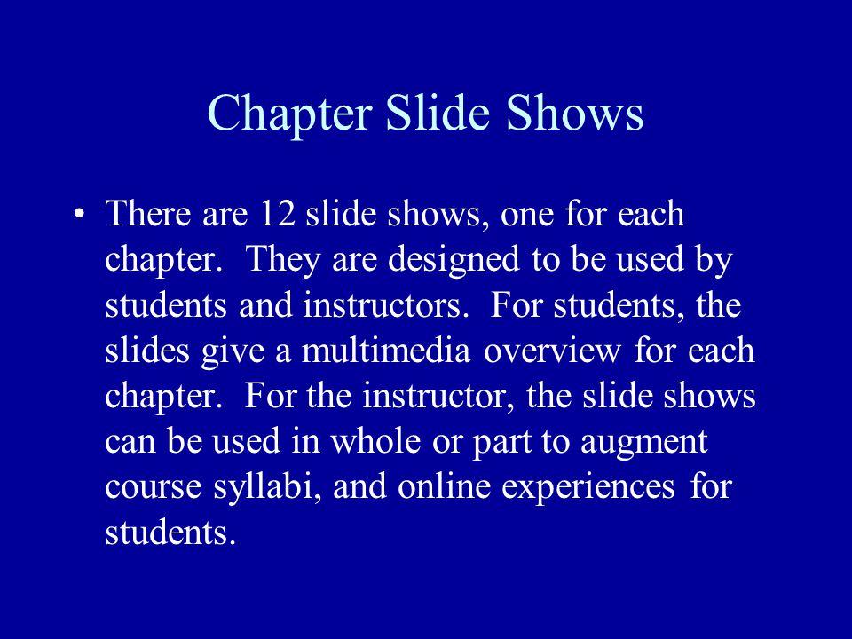 Chapter Slide Shows
