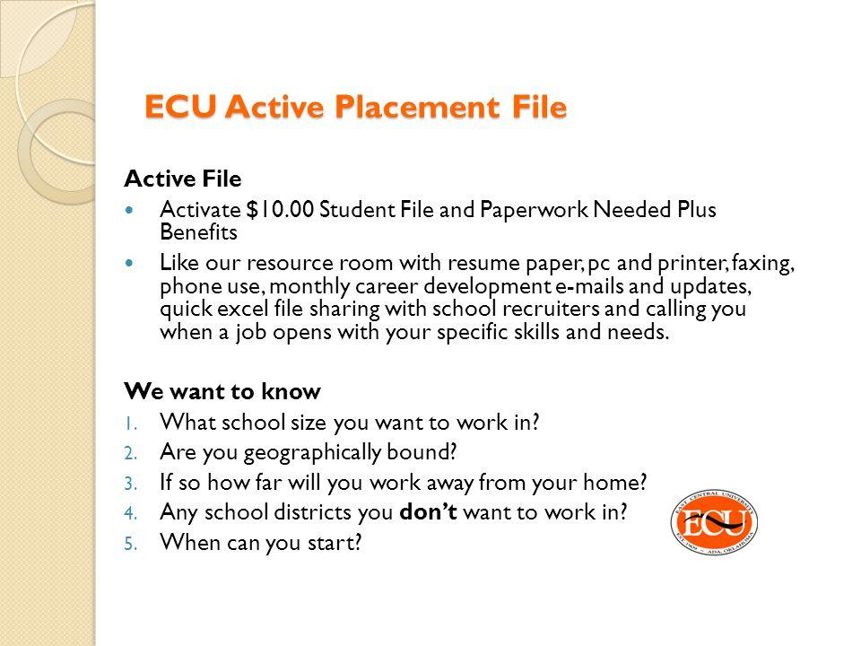 ECU Active Placement File