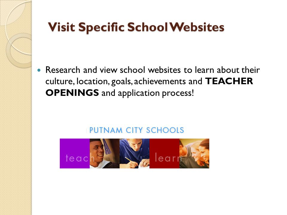 Visit Specific School Websites