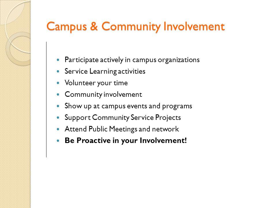Campus & Community Involvement