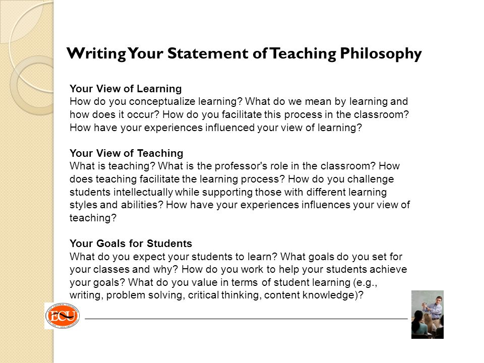 Writing Your Statement of Teaching Philosophy