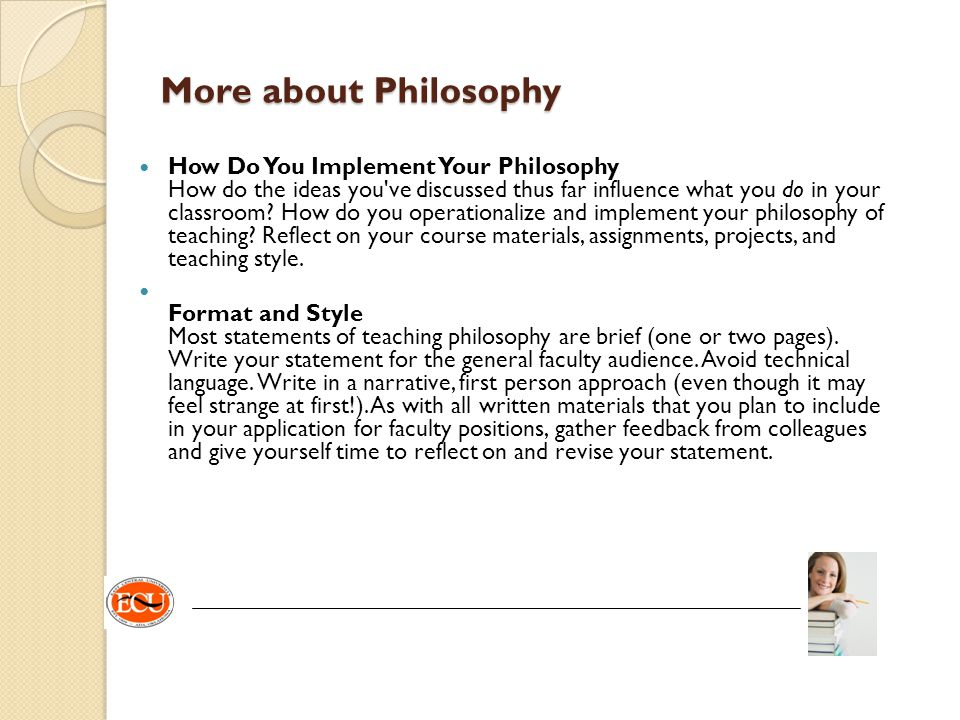 More about Philosophy