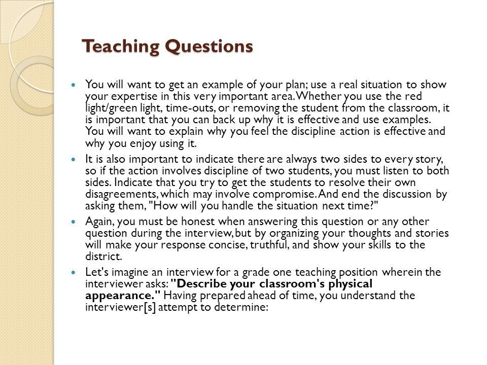 Teaching Questions