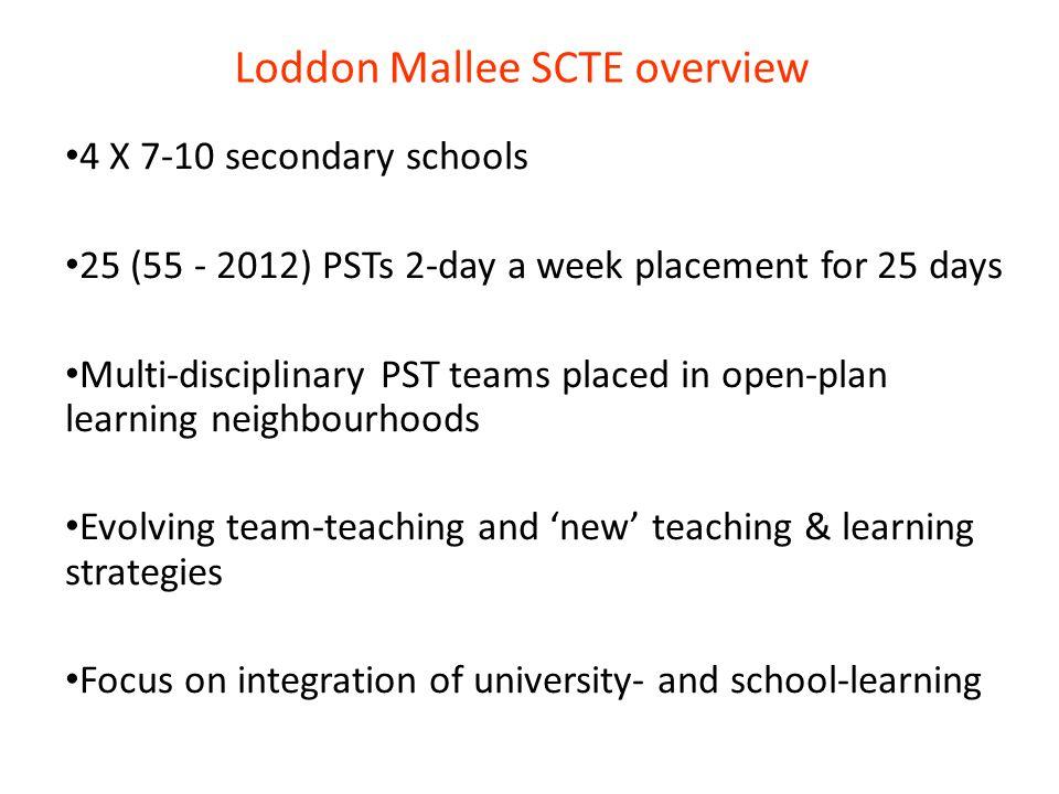 Loddon Mallee SCTE overview