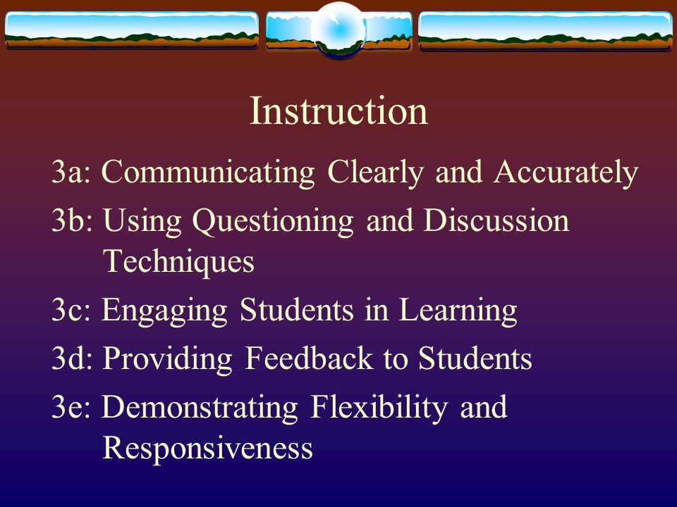 Instruction 3a: Communicating Clearly and Accurately