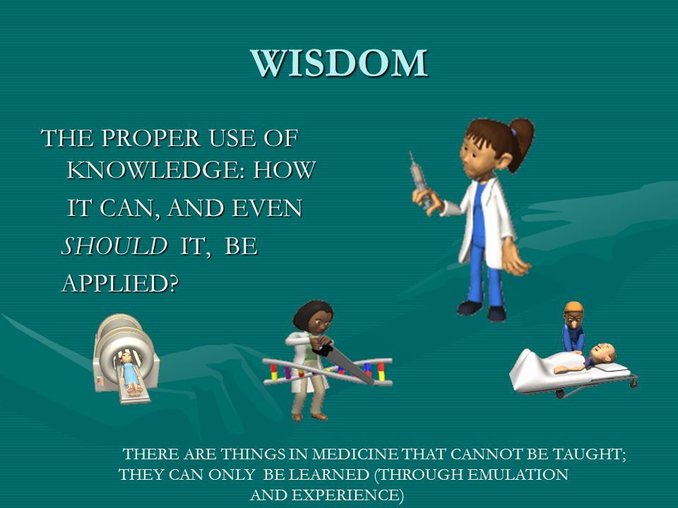 WISDOM THE PROPER USE OF KNOWLEDGE: HOW IT CAN, AND EVEN SHOULD IT, BE