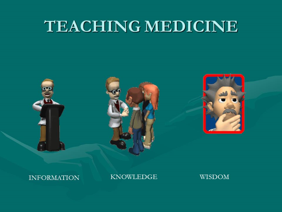 TEACHING MEDICINE INFORMATION KNOWLEDGE WISDOM