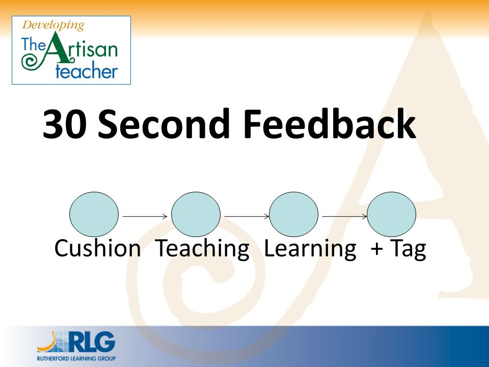 30 Second Feedback Cushion Teaching Learning + Tag