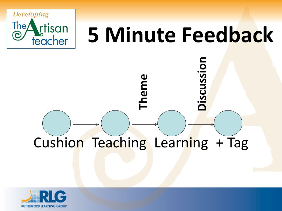 5 Minute Feedback Discussion Theme Cushion Teaching Learning + Tag