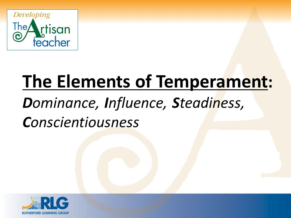 The Elements of Temperament: