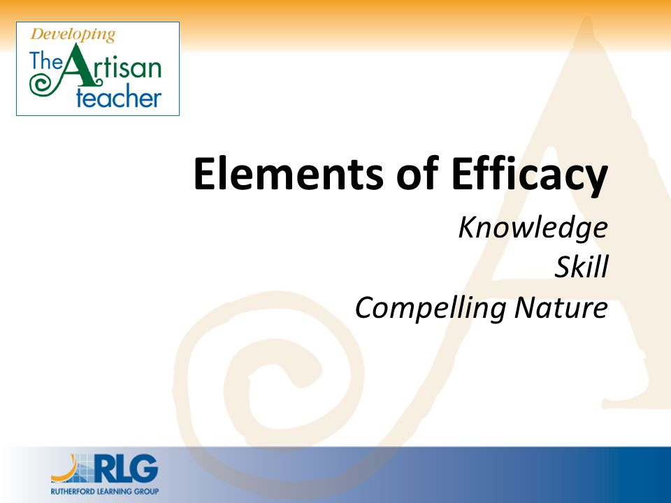 Elements of Efficacy Knowledge
