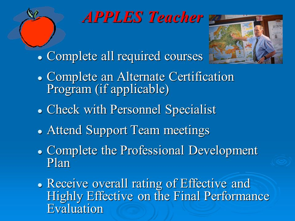 APPLES Teacher Complete all required courses