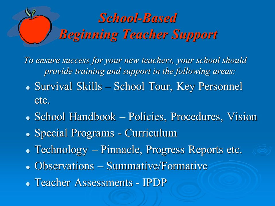 School-Based Beginning Teacher Support