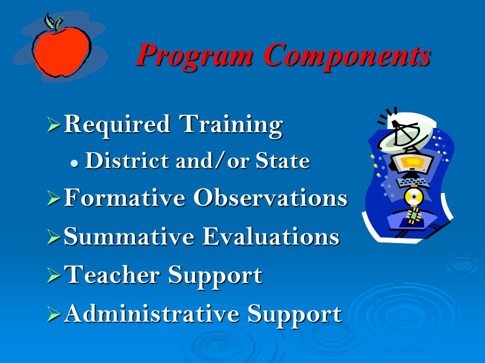 Program Components Required Training Formative Observations