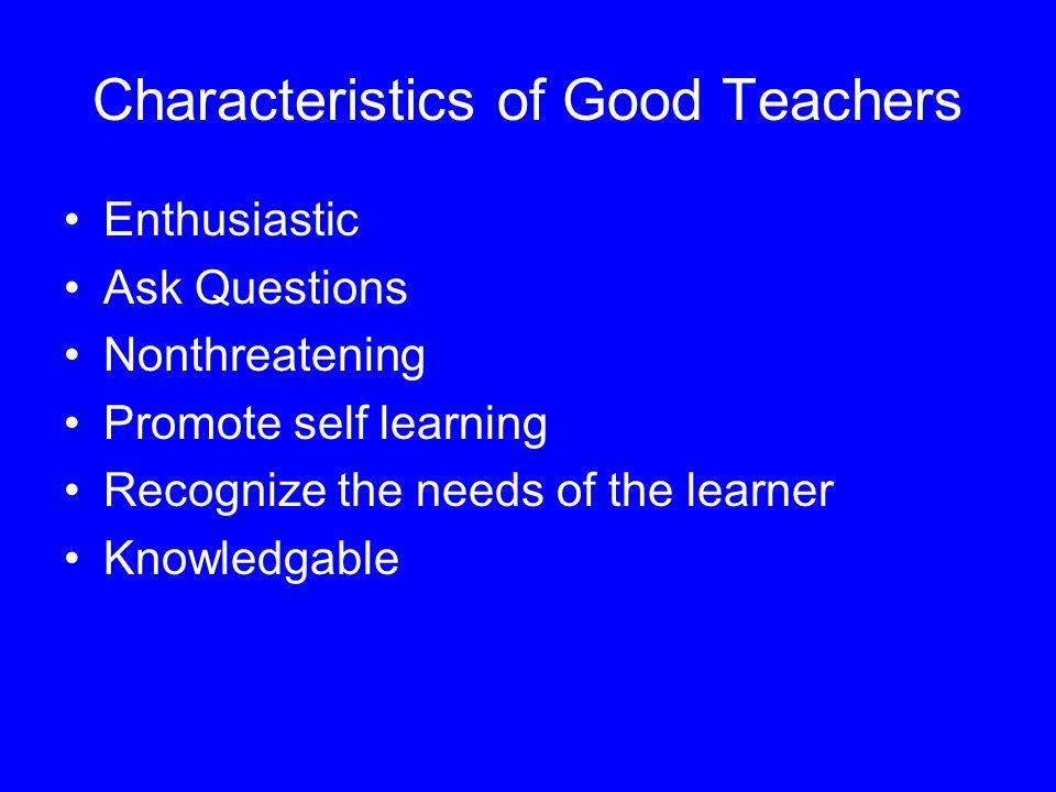 Characteristics of Good Teachers