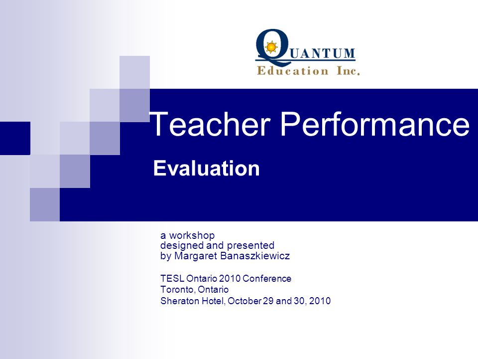 Teacher Performance Evaluation