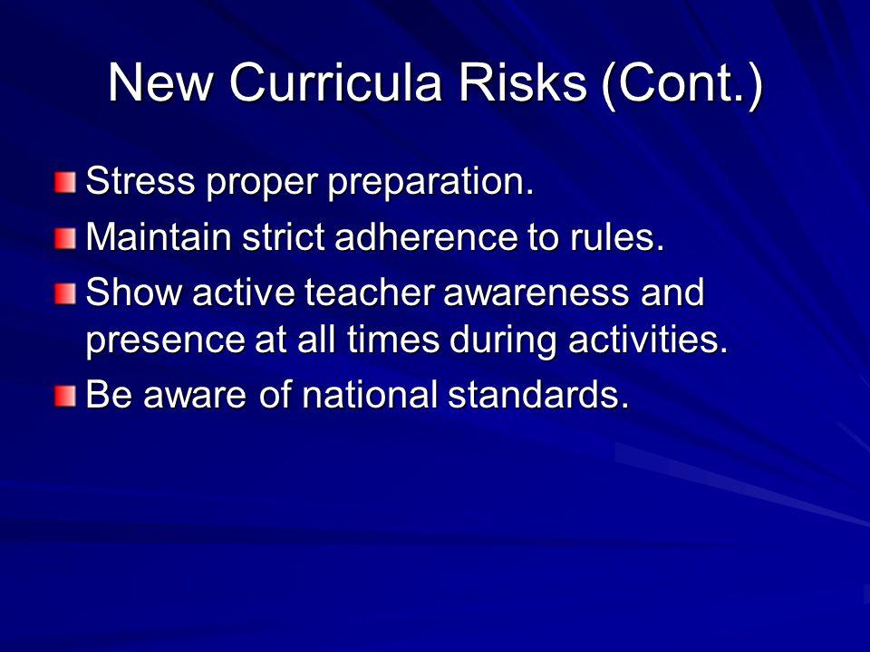 New Curricula Risks (Cont.)
