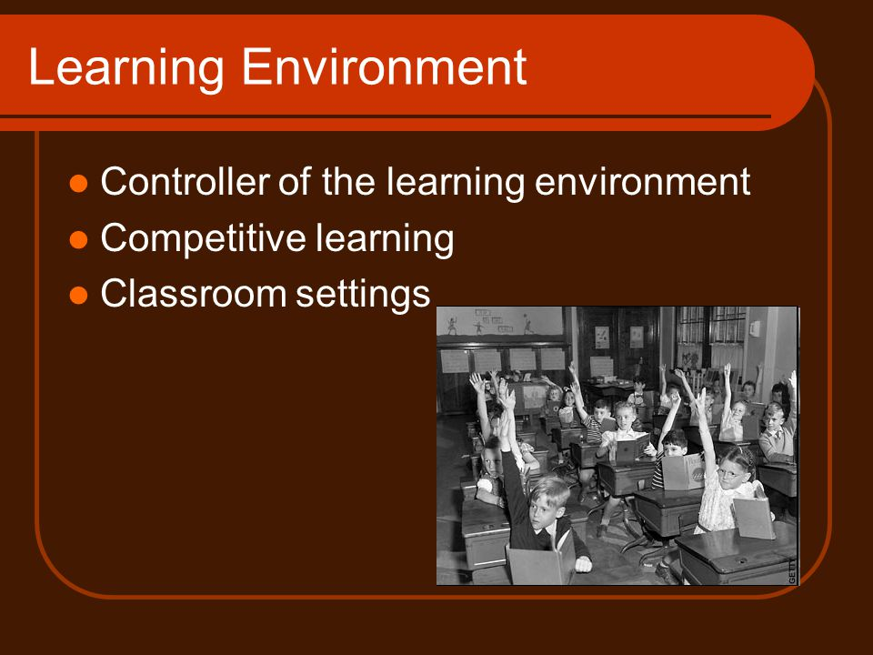 Learning Environment Controller of the learning environment