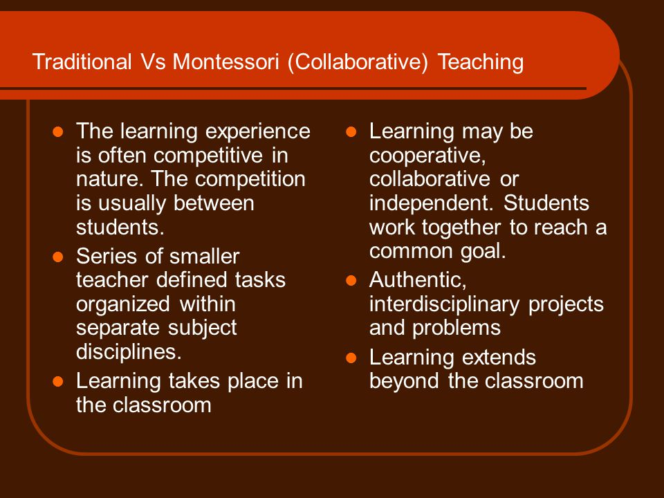 Cooperation vs. Competition in Classrooms