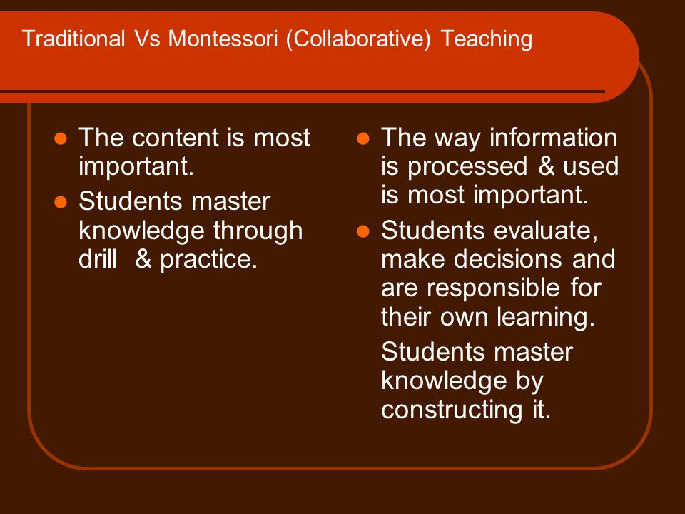 Collaborative Teaching Methods ~ Traditional teaching ppt video online download