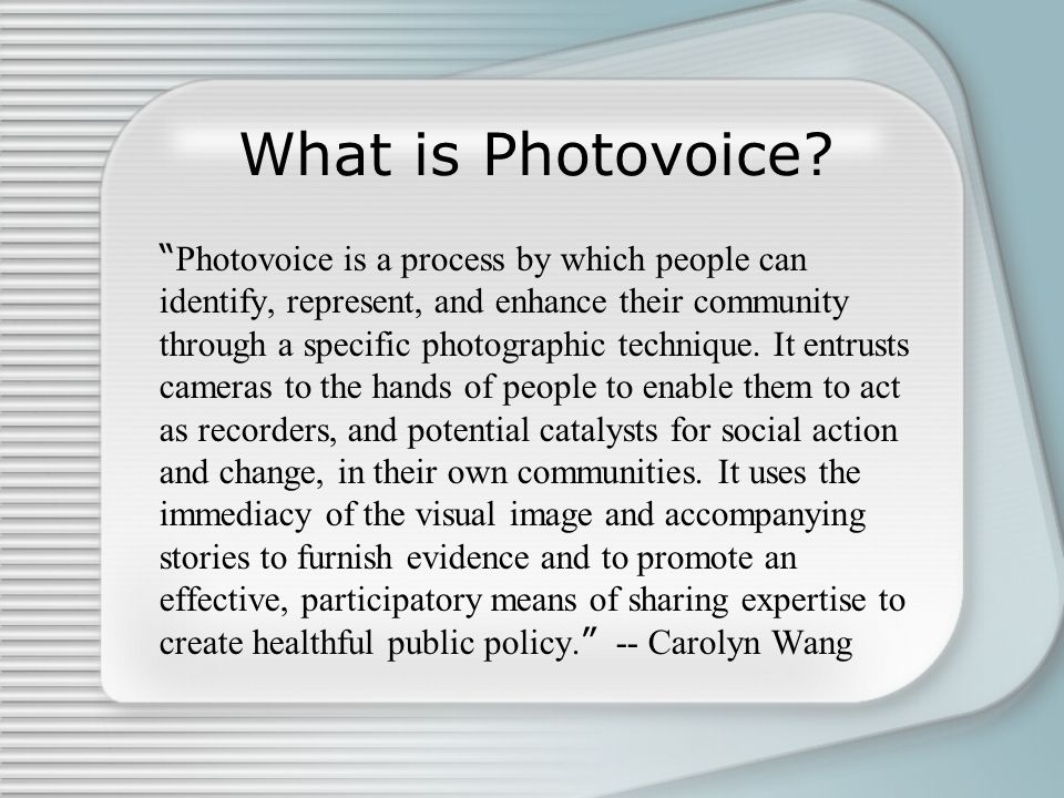 What is Photovoice
