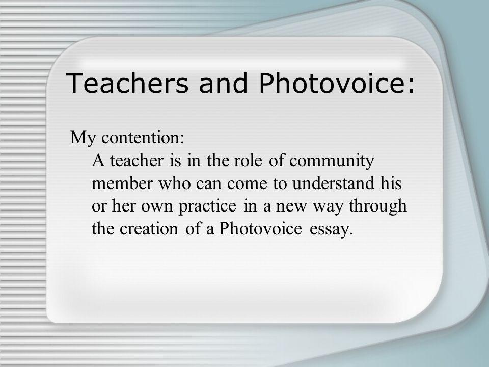 Teachers and Photovoice:
